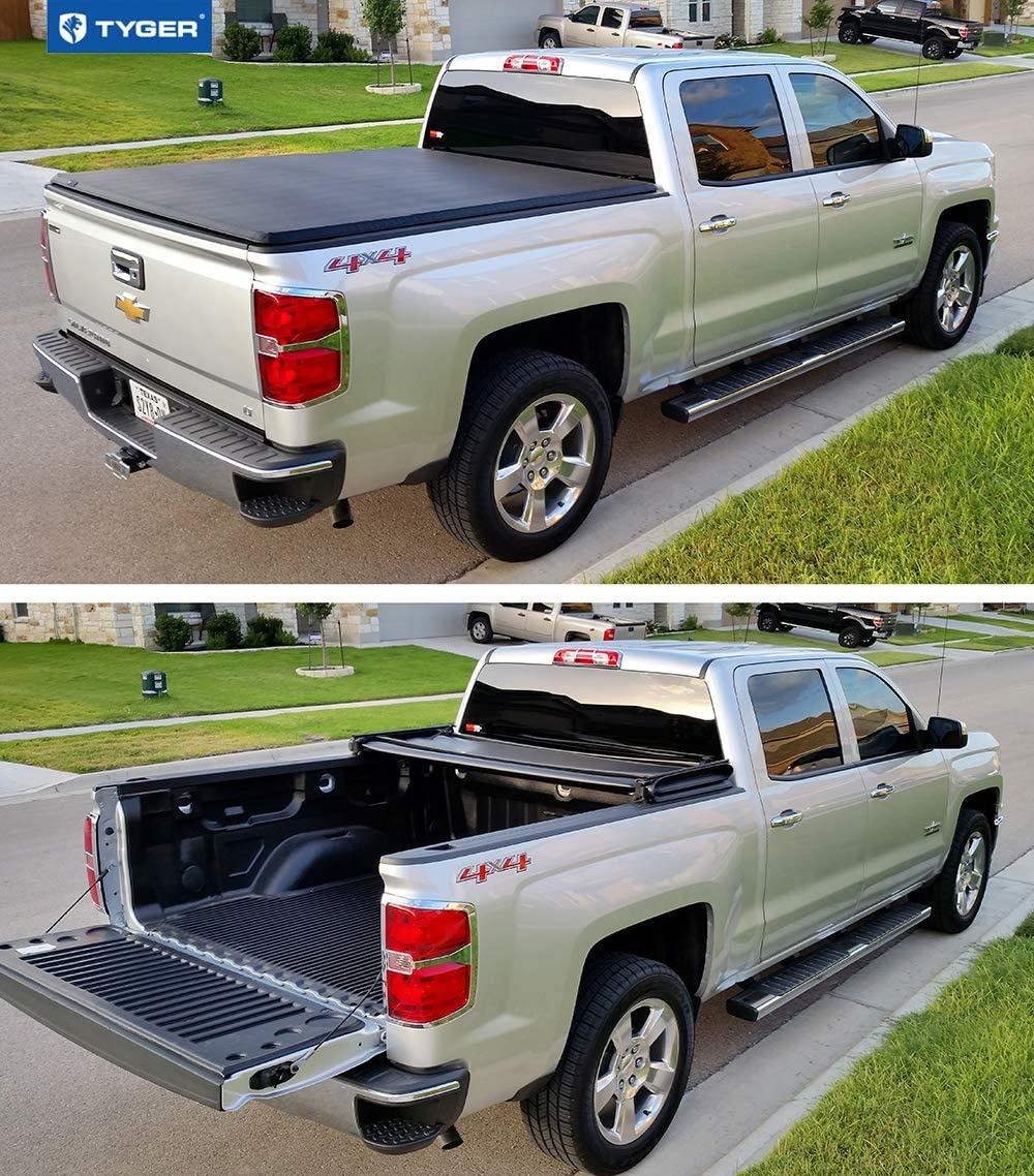 Tyger Auto Soft Top T3 Tri-Fold Truck Tonneau Cover for sliverado