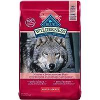 Blue Buffalo Wilderness High Protein Grain Free, Natural Adult Dry Dog Food, Salmon 10.8 Kg Bag - Large Bag, Kibble