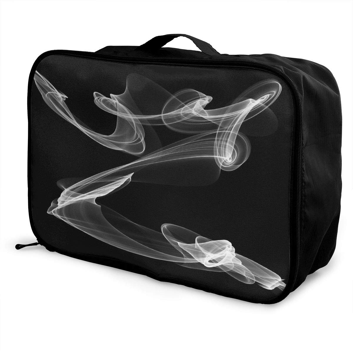 Artistic Swirl Color Travel Lightweight Waterproof Foldable Storage Carry Luggage Large Capacity Portable Luggage Bag Duffel Bag
