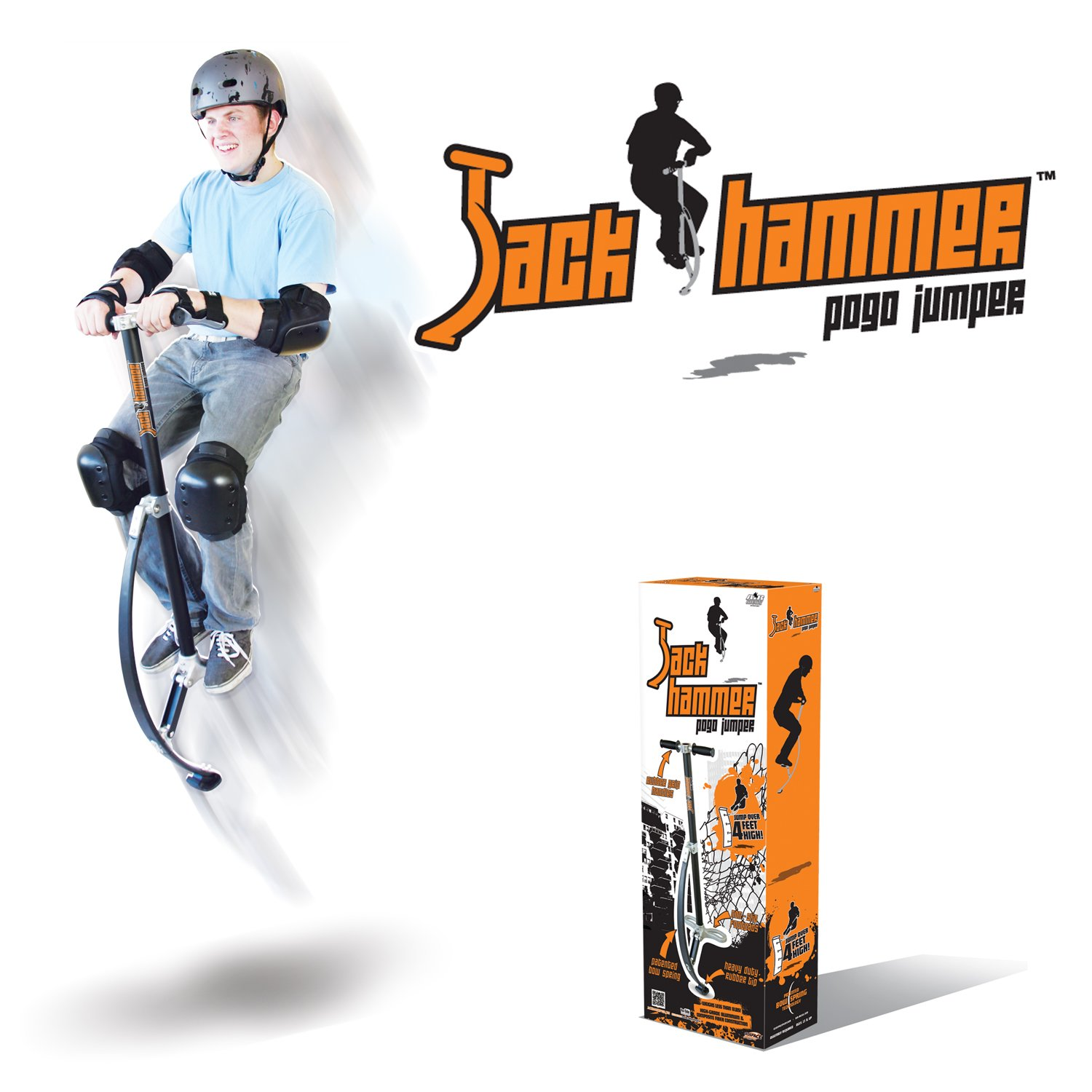 Jumparoo JACK HAMMER Extreme Pogo Jumper by Air Kicks, LARGE, 154-176 Lbs. (70-80 Kgs.) by Geospace