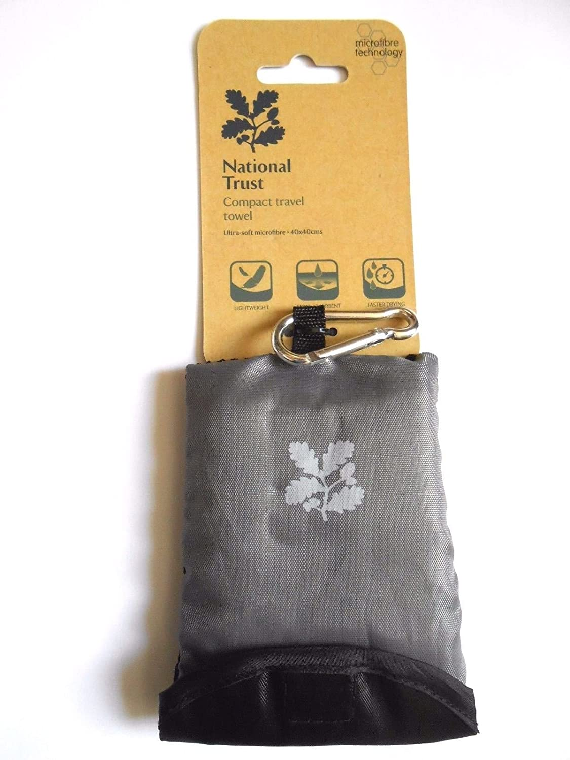 National Trust Compact Travel Towel 40 x 40cm