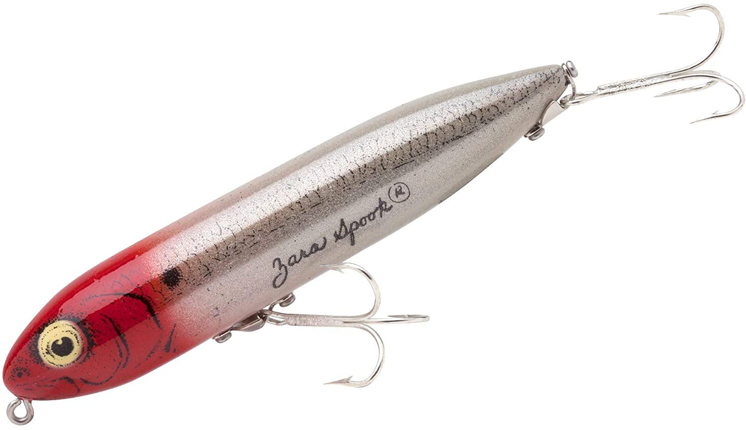 Heddon Zara Spook señuelos de Pesca, G-Finish Pearl/Red Head: Amazon.es: Deportes y aire libre