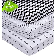 Pack n Play Sheets | Black & White