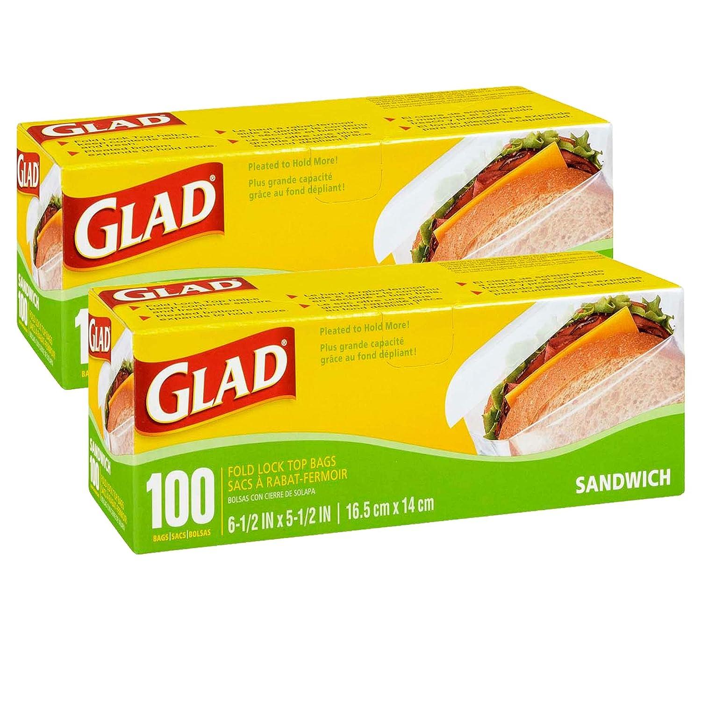 Amazon.com: Glad Sandwich Bags Fold Lock Top, Plastic Bags ...
