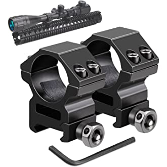 """For 15 Quick Release Flat-Top 1/"""" Riser Base Picatinny Weaver Rail Rifle Mount"""