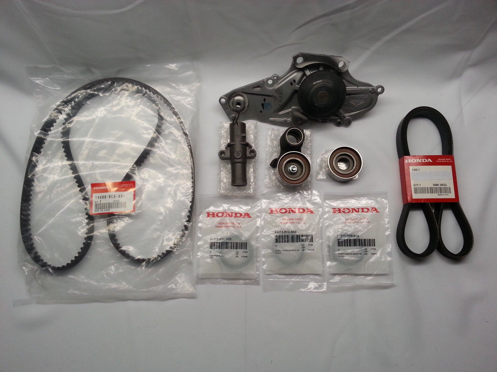 GENUINE/OEM COMPLETE TIMING BELT & WATER PUMP KIT HONDA/ACURA V6 W/FACTORY PARTS