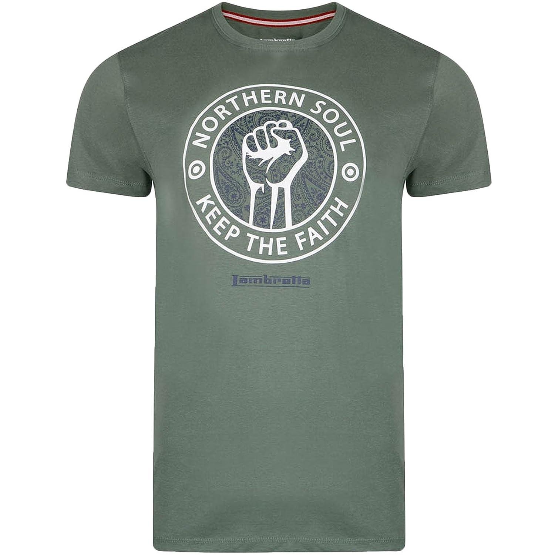 Lambretta - Camiseta de Manga Corta con Cuello Redondo (Talla S a ...