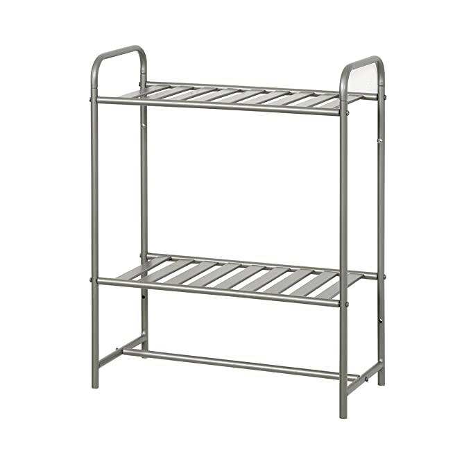 Amazon.com: Zenna Home 2212NN Slat Style Bathroom Wall Shelf, Satin Nickel: Home & Kitchen