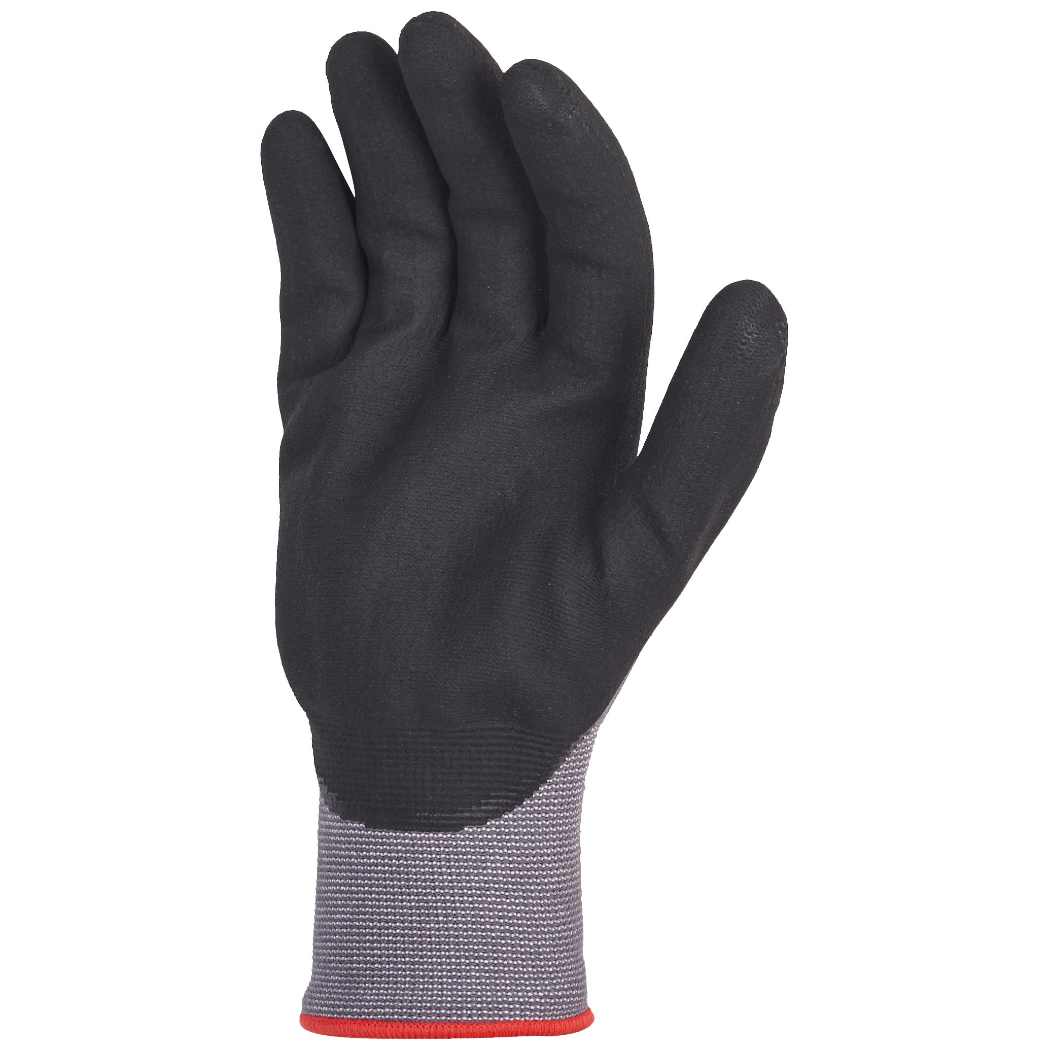 AmazonBasics Micro-Foam Nitrile Coated Work Gloves, Nylon Liner Fiber, Touch Screen, Grey, Size 9, L, 12-Pair by AmazonBasics (Image #5)