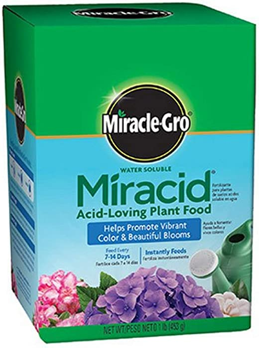 Scotts Company Miracle-Gro 1750011 Water Soluble Miracid Acid-Loving Plant Food, 1-Pound