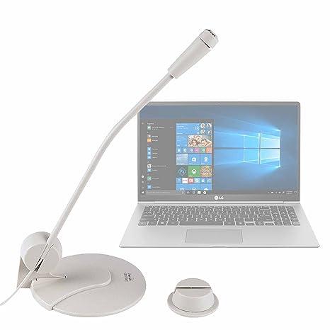 DURAGADGET Micrófono De Sobremesa para Portátil LG gram 15Z980-B, ASUS Zenbook 3 UX490UA