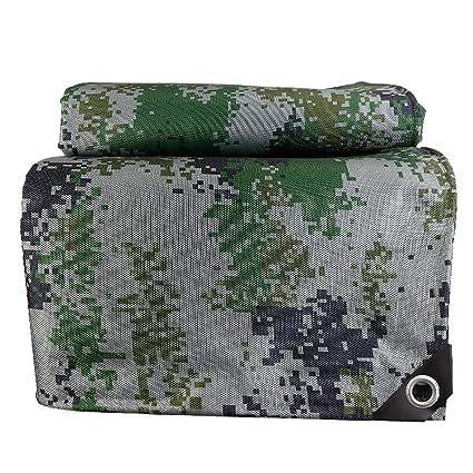 Cobertor de PVC impermeable Espesar Camuflaje Poncho de balcón Cubierta de cultivo Cobertizo de auto 500