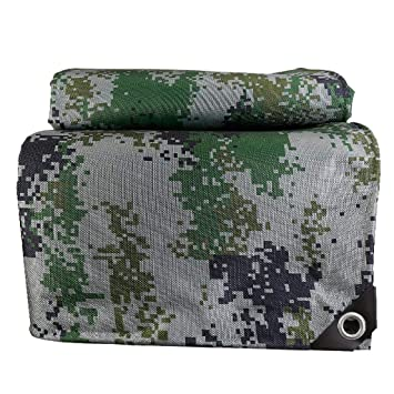 Cobertor de PVC impermeable Espesar Camuflaje Poncho de balcón Cubierta de cultivo Cobertizo de auto 500 g/metro cuadrado Múltiples tamaños (Tamaño ...
