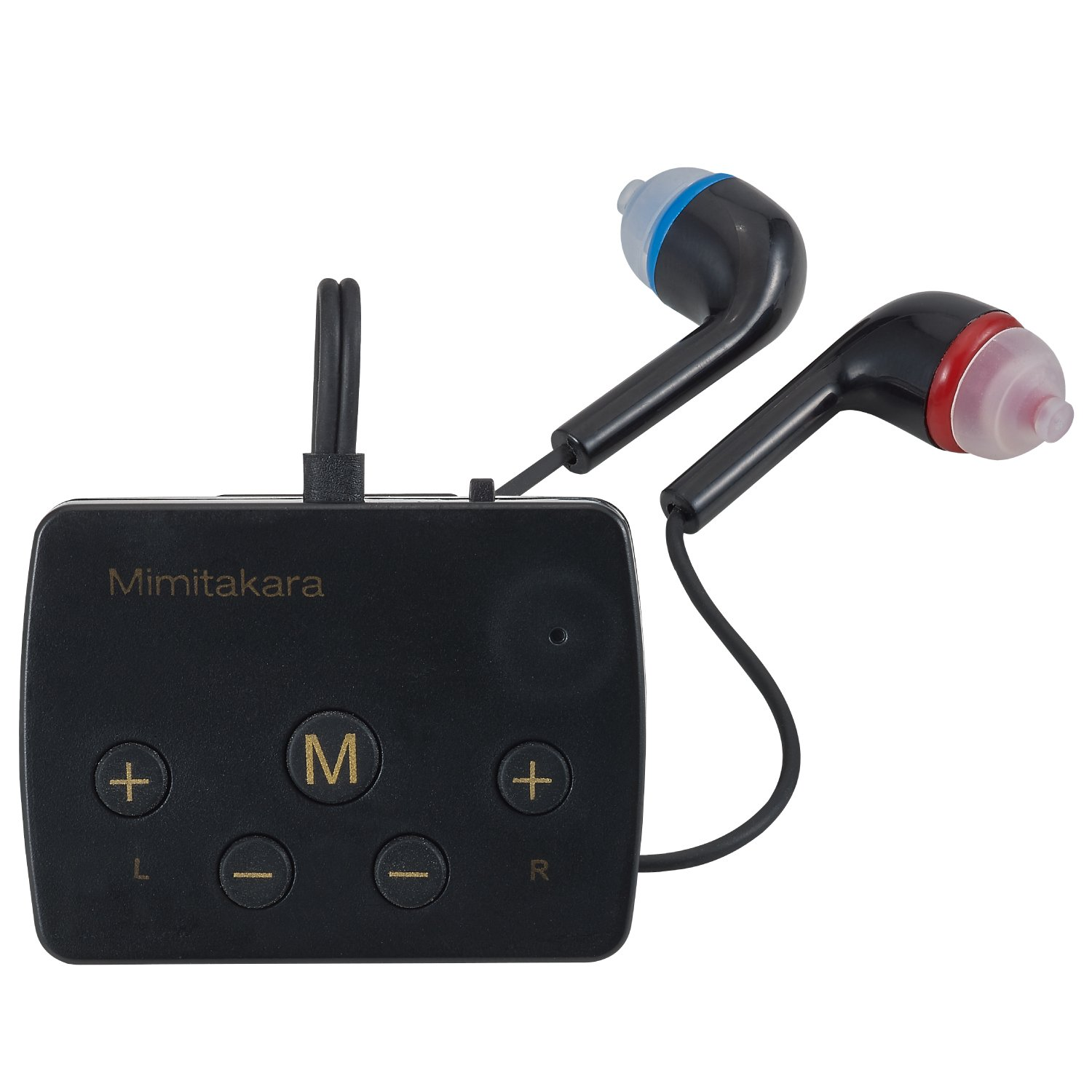 Mimitakara (Dual) [Black] FDA Registered Rechargeable Sound Amplifier, with Bluetooth technology