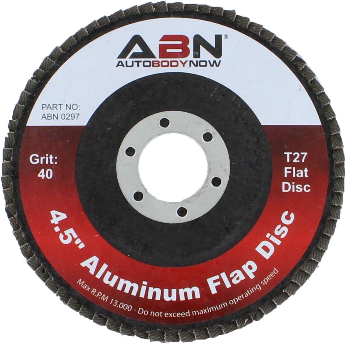 ABN 4.5in x 7//8 T27 40 Grit Aluminum Oxide Flat Flap Disc Grinding Sanding Sandpaper Wheels 5 Pack
