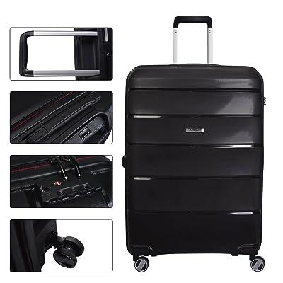70%OFF Hardside Spinner Luggage Set, 3 Piece, Black