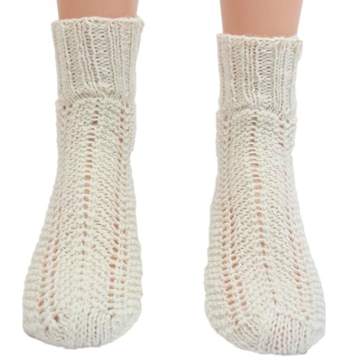 Calcetines handgestrickt pura lana virgen
