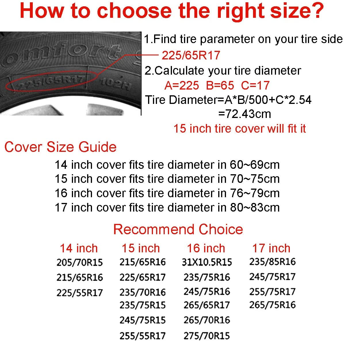 Polyester Universal Sunscreen Waterproof Dustproof and Corrosion Proof Wheel Cover Uktly Spare Tire Cover American Flag Eagle Jeep Trailer RV SUV Truck 14 15 16 17 Inch Wheel