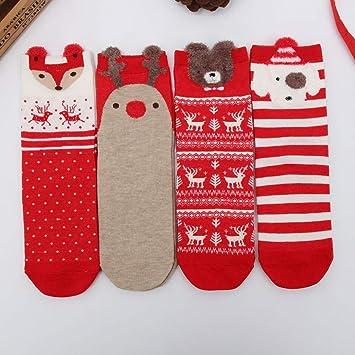 Warm Winter Christmas Socks Women Ladies Bed Socks Novelty Xmas Stocking Men