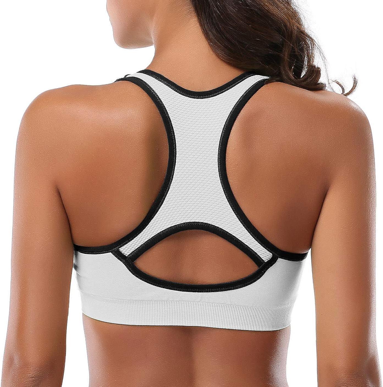 High Impact Workout Gym Activewear Bra Mirity Women Racerback Sports Bras