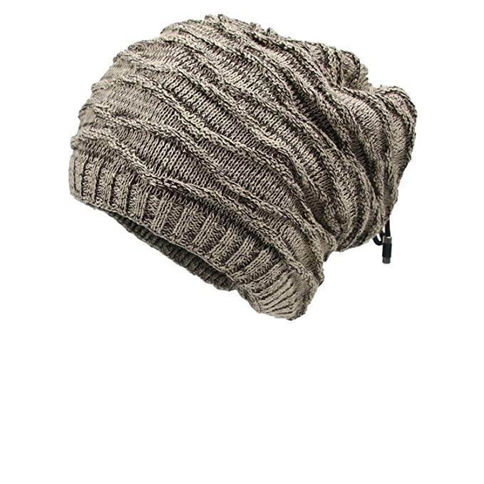 eaf30b6f383 Unisex Winter Hats Scarf Set for Men Women Warm Thick Knitted Hats Cotton  Winter Accessories Male