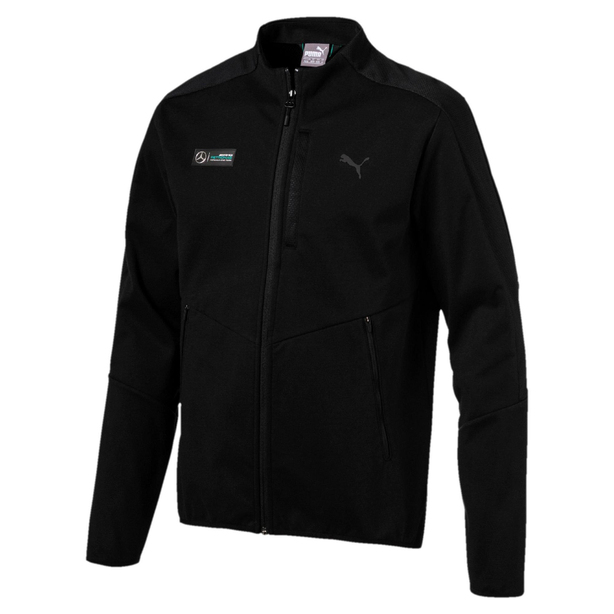 Mercedes AMG Petronas F1 Men's T7 Sweatshirt Sweat Jacket, Black (Medium)