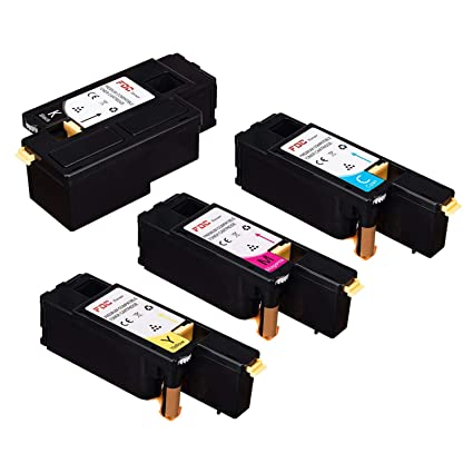 FDC – Cartucho de tóner compatible Xerox Phaser 6020, 6022 WorkCentre 6025, 6027, 6028 impresoras de cartuchos de tóner, color negro, cian, Magenta, ...