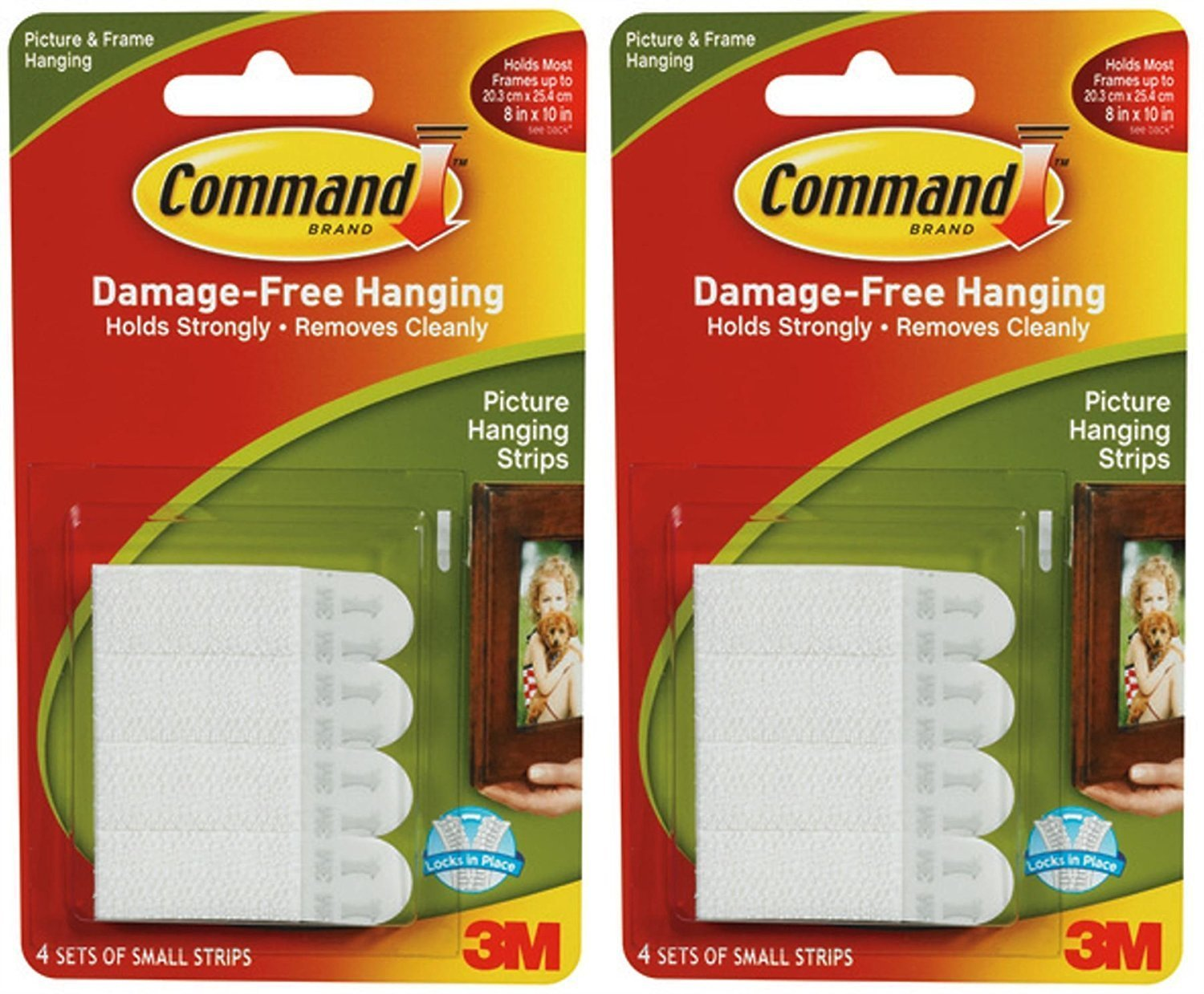 2 x 3M Command Small Picture Strips Set Of 4 Strips TRTI11A1473