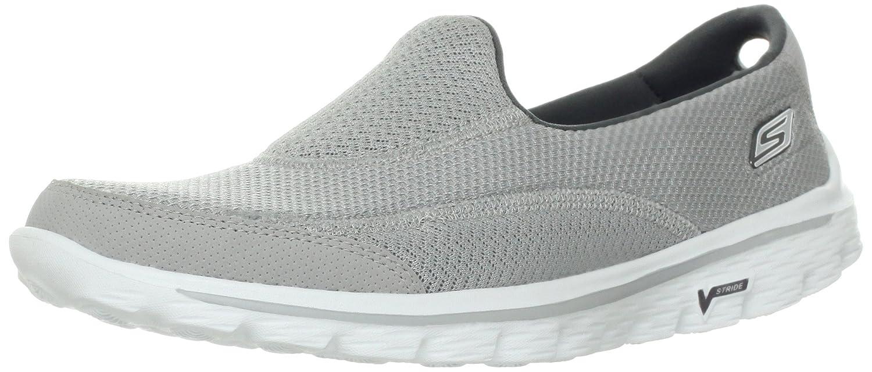 Skechers Damen Go Walk 2 Linear Sneakers  37 EU|Grau (Gry)