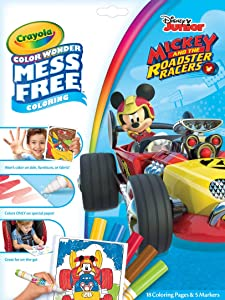 Crayola Color Wonder Mickey Mouse Coloring Pages, Mess Free Coloring, Gift for Kids, Age 3, 4, 5, 6