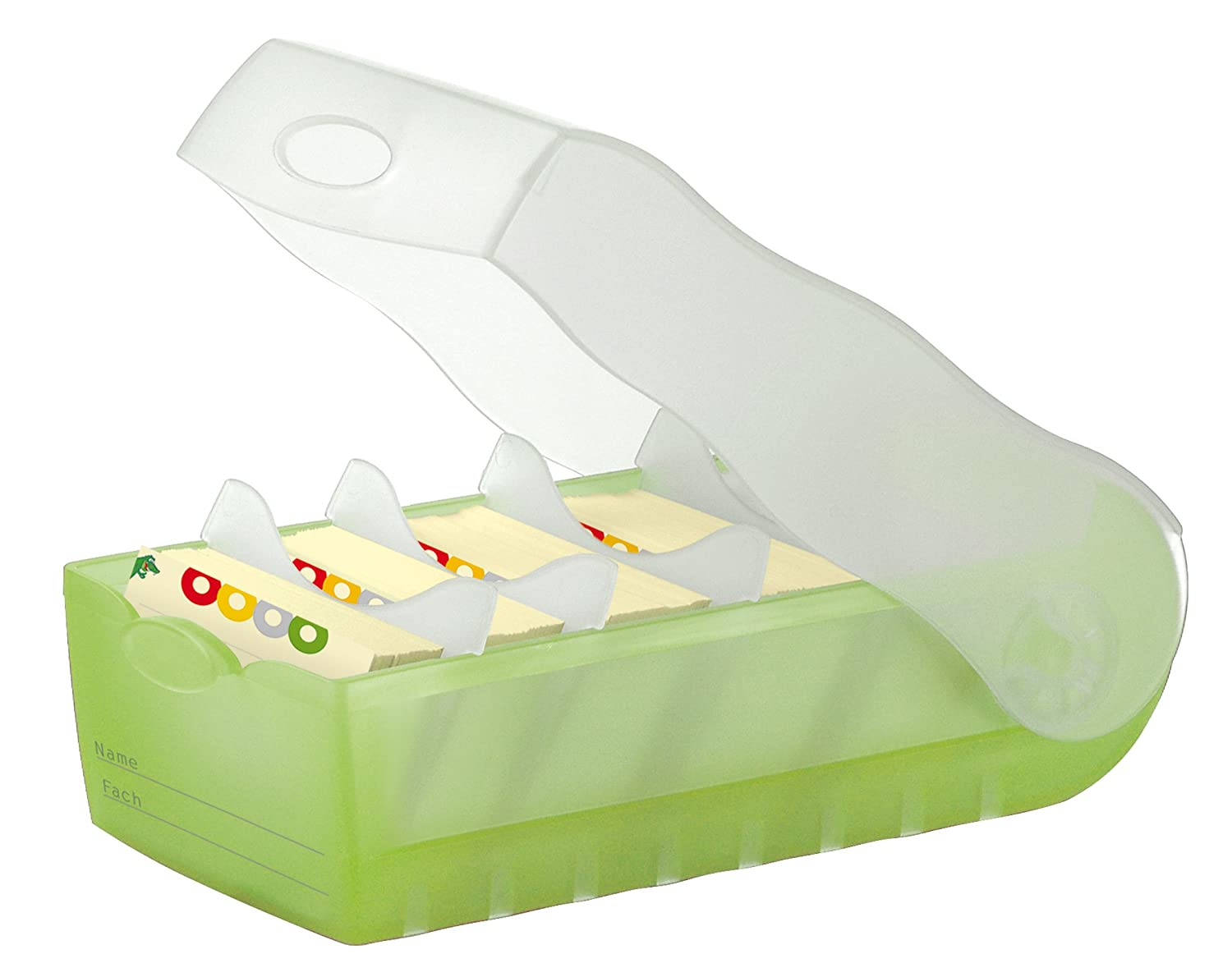 A8 For learning vocabulary in an ingeniously simple way translucent-purple CROCO Flashcard Index Box HAN 998-673