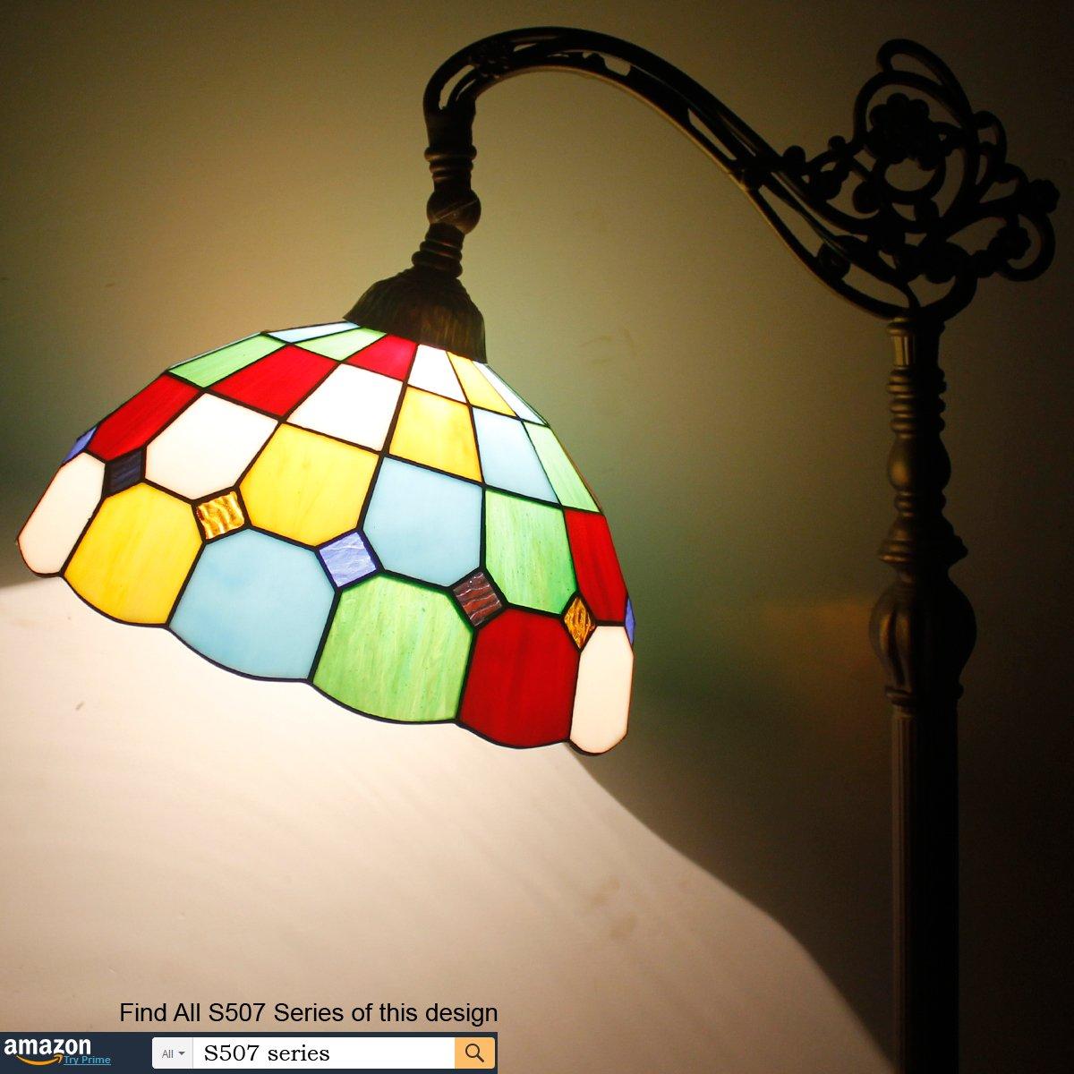 Tiffany Style Reading Floor Lamp Table Desk Lighting Tartan Design W12H64 E26 by werfactory (Image #2)