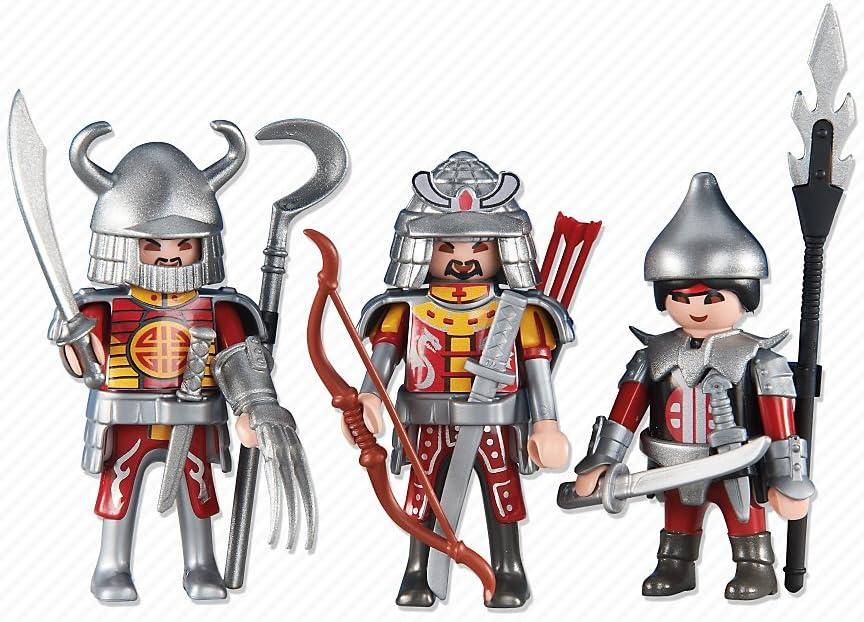 Playmobil 6326. 3 Caballeros Asiáticos Rojos: Amazon.es: Juguetes y juegos