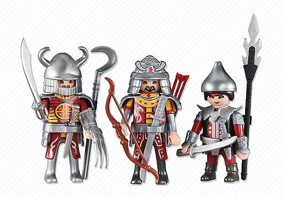 Playmobil 6326. 3 Caballeros Asiáticos Rojos: Amazon.es ...