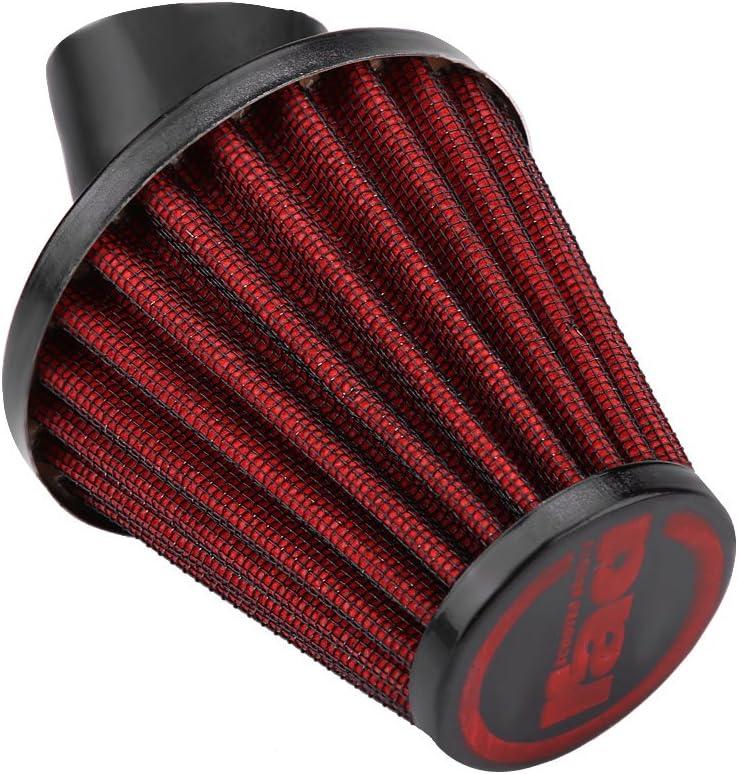 Qiilu Filtre /à air moto 45 degr/é courbent le filtre /à air dadmission de moto nettoyant universel 48MM-vert