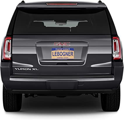 2X Universal Car License Plate Cover Frame Shield for US Auto Front Rear