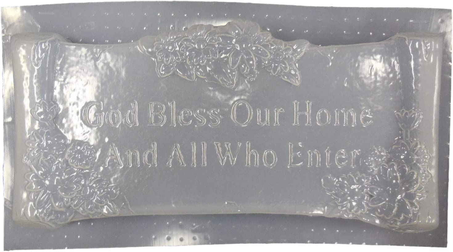 God Bless Our Home Plaque Concrete or Plaster Mold 7218