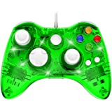 Wired 360 Controller Dual Vibrator Wired Gamepad Gaming Joypad, Green - PAWHITS