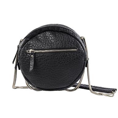 1472379258 Sac à main rond à bandoulière métallique - noir: Amazon.fr: Vêtements et  accessoires