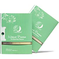 Natural Green Tea Oil Absorbing Sheets, 200 Counts in 2 Pack - Premium Face Oil Blotting Paper - Take Only 1 Piece Each Time Design - Large Size 10cmx7cm/Sheet, No Waste and Easy to Carry in Pocket!