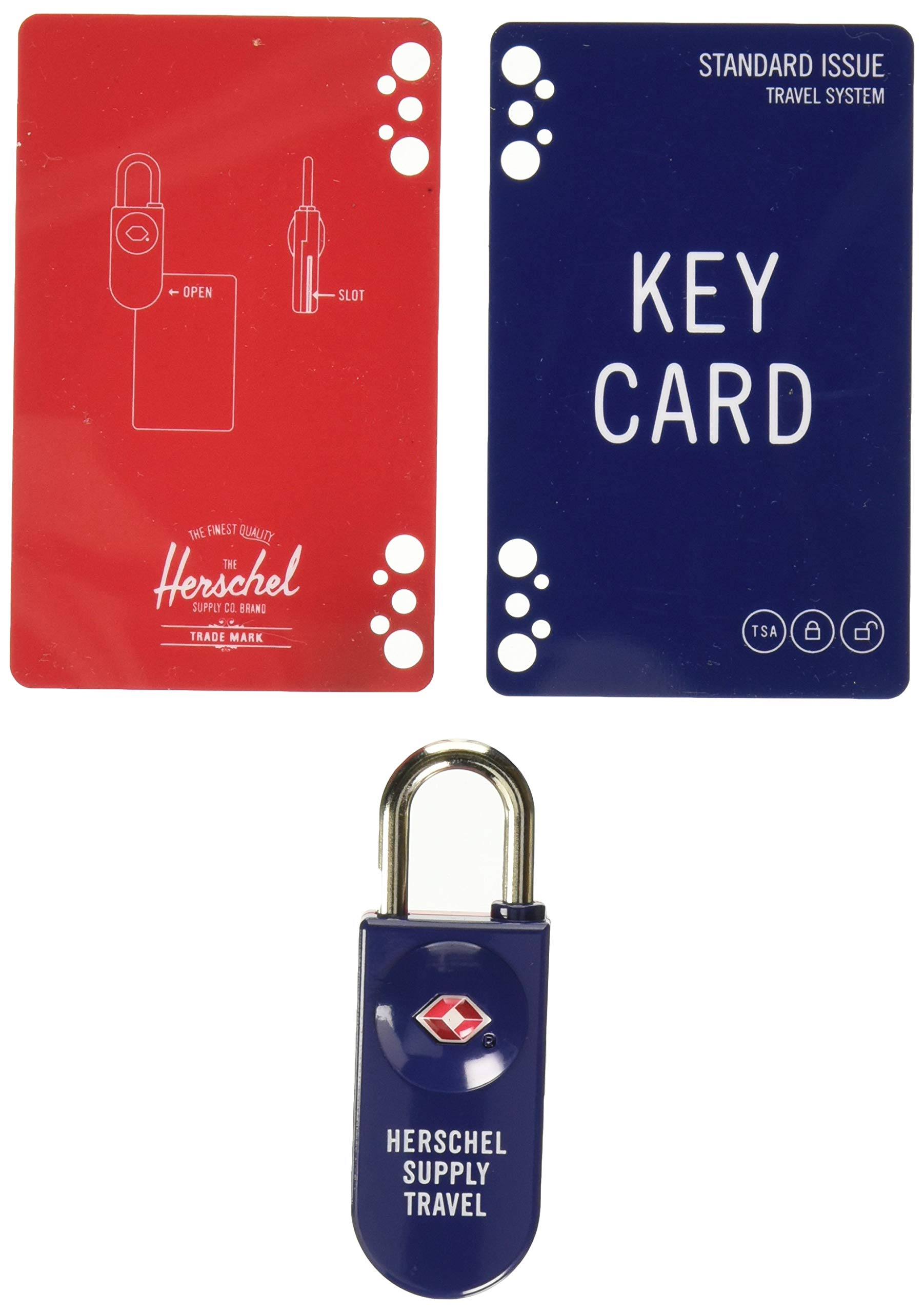 Herschel TSA Card Lock, Navy/Red by Herschel