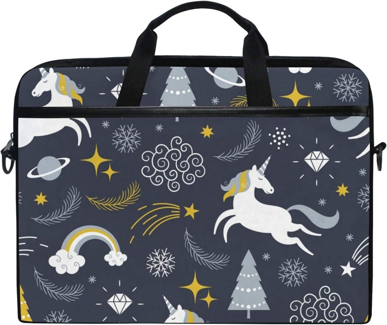 HousingMart 15 Inch Laptop Sleeve Bag Space Galaxy Unicorn Shoulder Laptop Bag Case Hand Bag Macbook Computer Bag for Women Men Kids