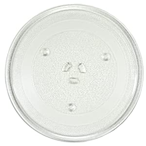 HQRP 12.5-inch Glass Turntable Tray for Hotpoint WB49X10069 RVM1535 RVM1535DM1BB RVM1435 RVM1435WH001 RVM1435WK01 RVM1425 RVM1425WA004 Microwave Oven Cooking Plate + HQRP Coaster