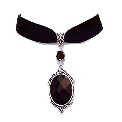 192adce4e Tarja : Collier Ras-de-cou Gothique : Velours Noir, Miroir et ...