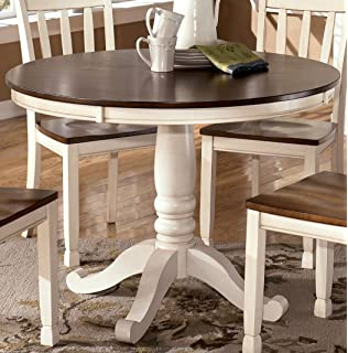 Signature Design By Ashley D583 15B Whitesburg Collection Dining Room Table  Base, Cottage White Part 47