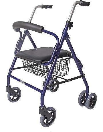 CYMAM BULNES - Andador para ancianos de cuatro ruedas, color azul