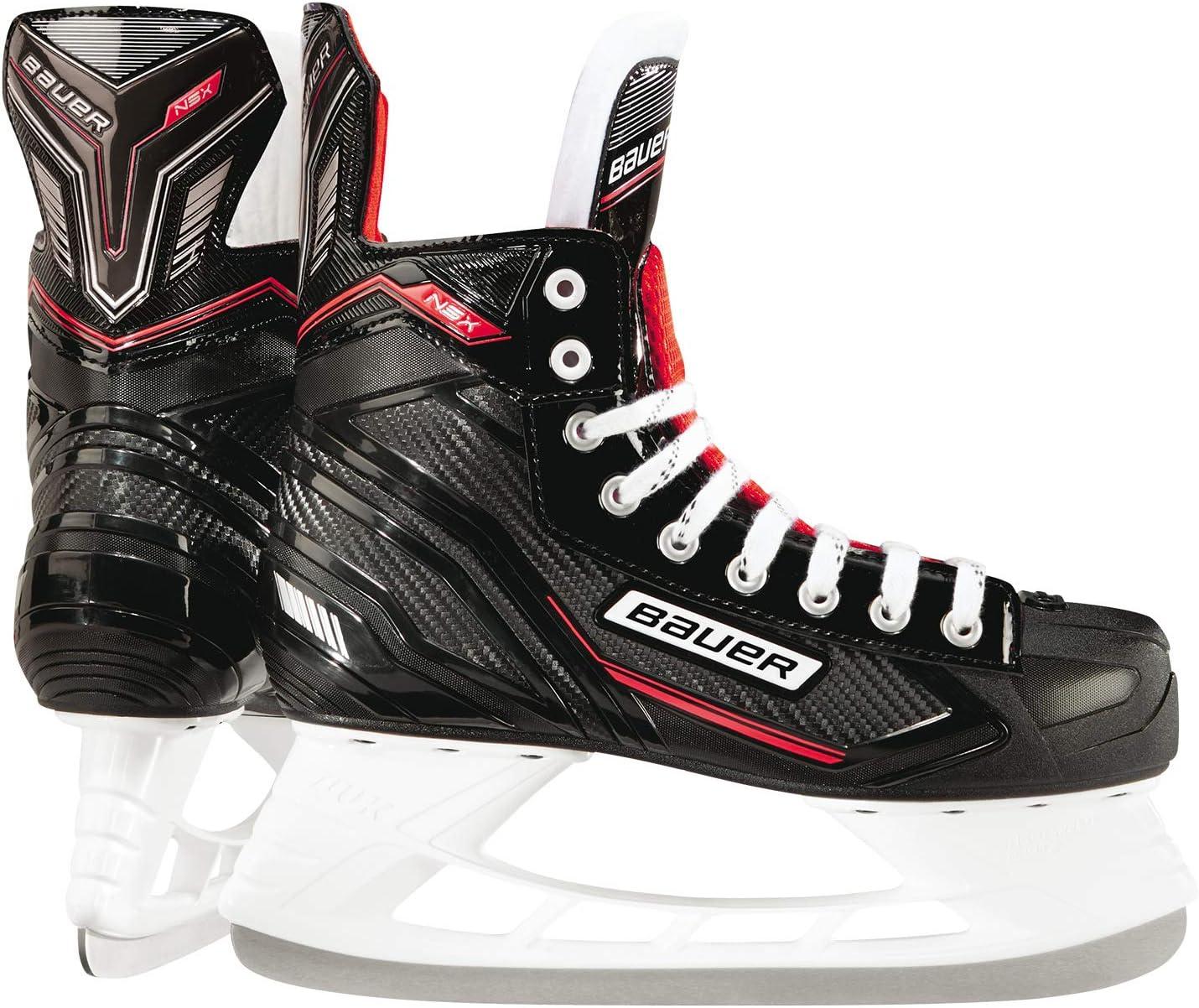 BAUER Herren Eishockey Schlittschuhe NSX Senior I 7 Gr/ö/ßen I ideal f/ür Freizeitspieler I Edelstahlkufen I komfortables Laufen I leichtes Anziehen