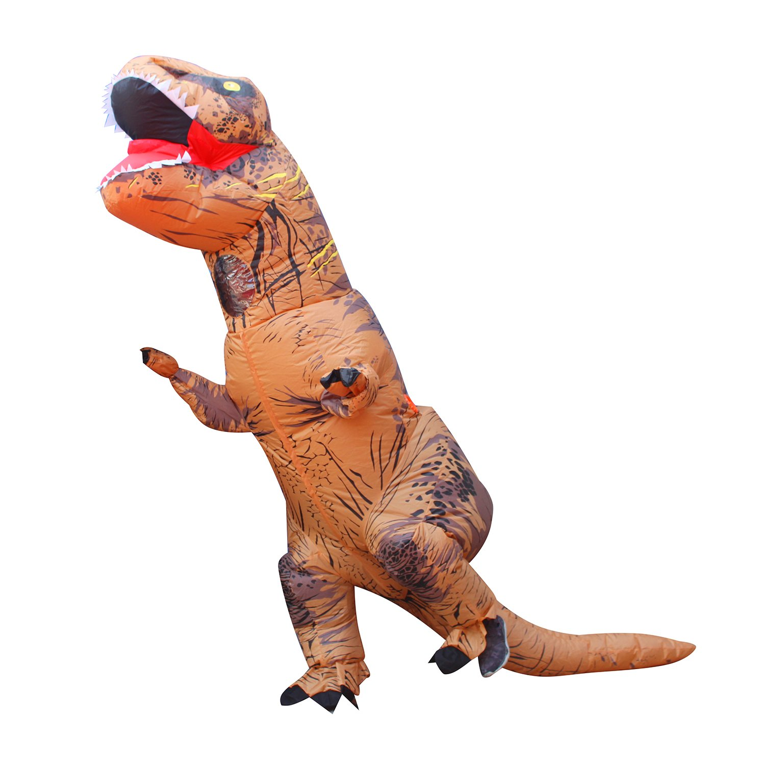 BESTPARTY Halloween Adult Inflatable T-rex Dinosaur Party Costume Funny Fancy Dress Fantastic Suit