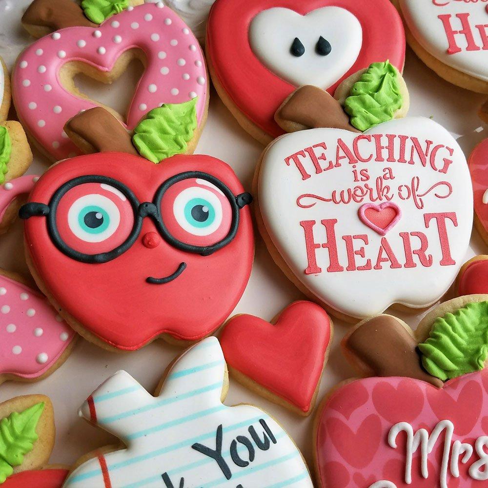 Back to School/Teacher Appreciation Cookie Cutter Set -5 piece - Pencil, Scissors, Apple, Crayon, Rectangle - Ann Clark -US Tin Plated Steel by Ann Clark Cookie Cutters (Image #5)