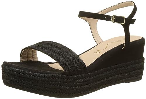 Unisa Katia_18_KS, Alpargata para Mujer, Negro (Black), 37 EU: Amazon.es: Zapatos y complementos
